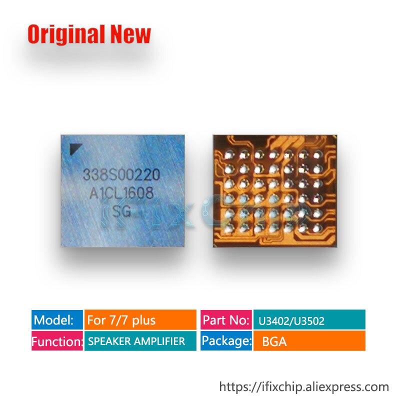 2pcs-50pcs/lot Original U3402/U3502 for iphone 7/7plus/7 plus small audio codec ic SPEAKER AMPLIFIER/ARC DRIVER/chip