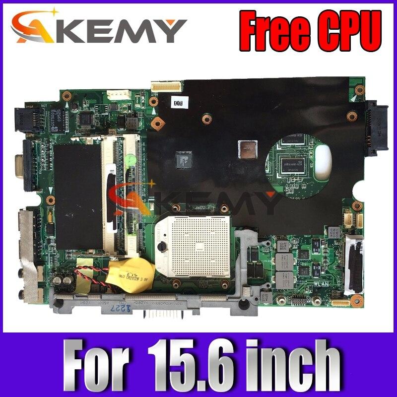 Free CPU!!! laptop motherboard REV 1.3 / 2.1 For Asus K50AB K50AF K50AD X5DAf X5DAD laptop 15.6 inch