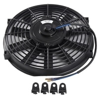 10 Inch 12V 80W 2100Rpm Straight Black Blade Electric Cooling Radiator Tank Fan Mounting Kit Universal