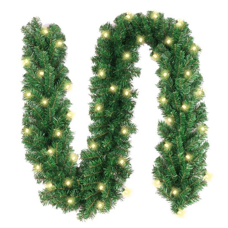 2,7 M LED Weihnachten Ornament Rattan Künstliche Weihnachten Grün krawatte licht LED licht Rattan Weihnachten szene layout Luxus verschlüsselt