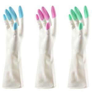 Long Sleeve latex Kitchen Wash Dishes Dishwashing Gloves House Cleaning