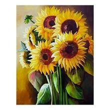 DIY 5D Diamant Malerei Kits Volle Bohrer Wand Hängen Diamant Malerei Set für Wand Dekor Sonnenblumen