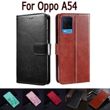 Wallet Case For Oppo A54 4G Cover Etui Flip Stand Leather Book Funda On Oppo A 54 CPH2239 Case Phone