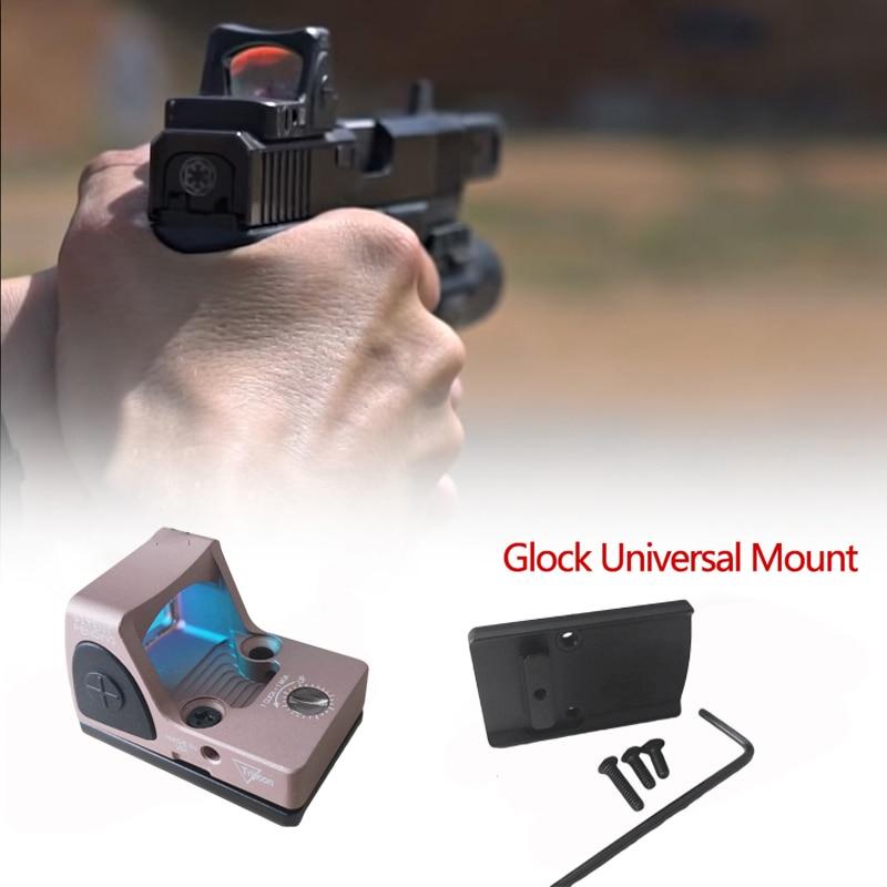 Glock Mini RMR Red Dot Sight Collimator Reflex Sight Scope fit 20mm Weaver Rail Airsoft Hunting Rifle Optical Sight