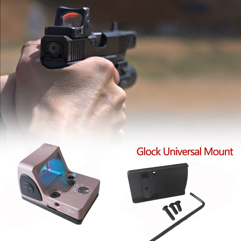 Glock Mini RMR Vista de punto rojo colimador reflejo vista alcance 20mm Weaver carril Airsoft Rifle de caza vista óptica