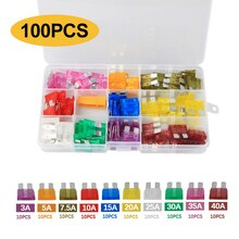 100pcs 5/7/10/15/20/25/30A Fuse Car Blade Fuse Assortment Assorted Kit Mini Small Size Blade Set Aut