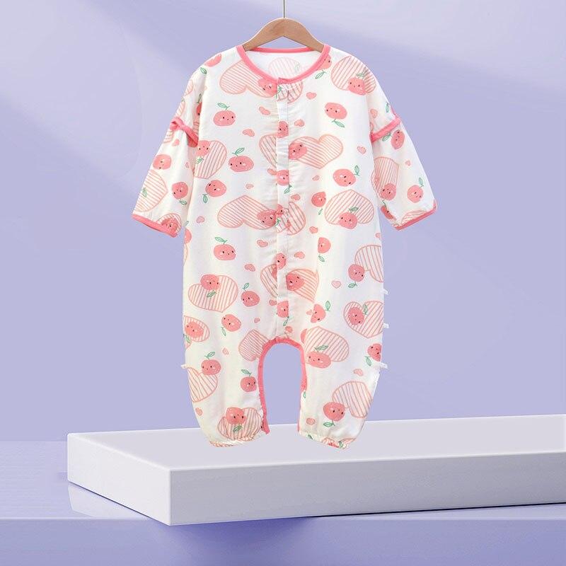 Baby Summer Sleeping Bag Vest Sleep Bag With Sleeves Detachable Convenient Change Diaper 100% Cotton Printed Newborn Baby