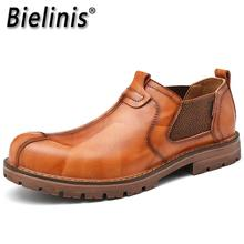 New Autumn Chelsea Boots Men Fashion Casual Shoes Mens Loafers Moccasins Breathable Slip On Omfortab