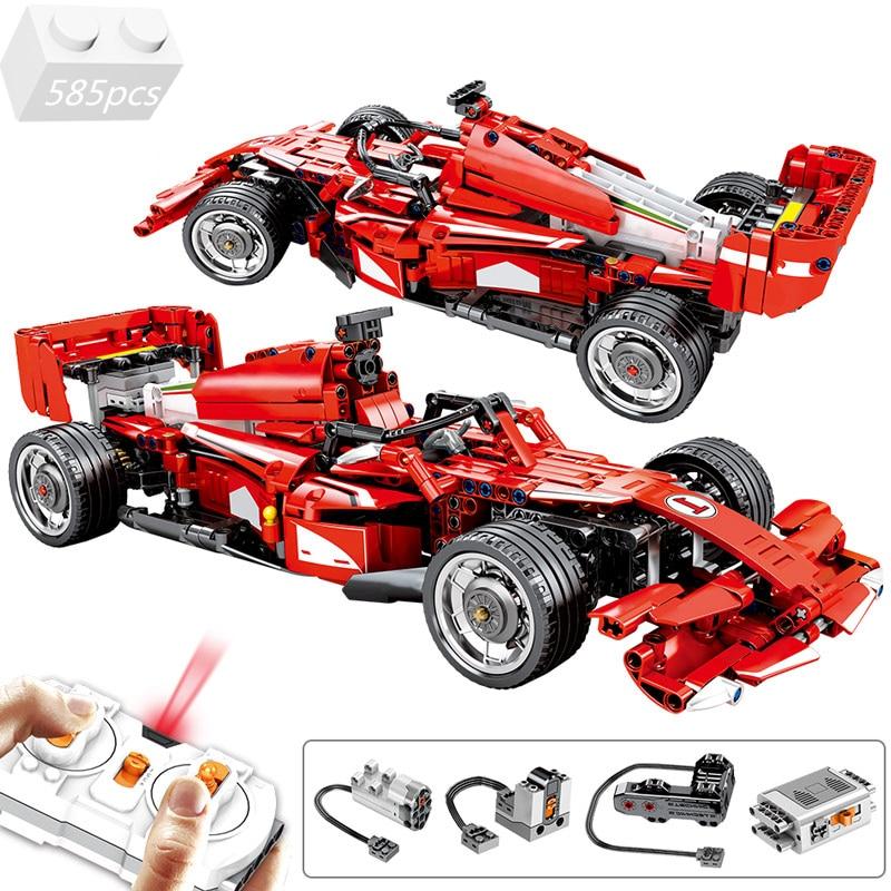 High-tech Electric RC Remote Control Car Building Blocks Kit Bricks MOC Classic Model F1 Racing Car