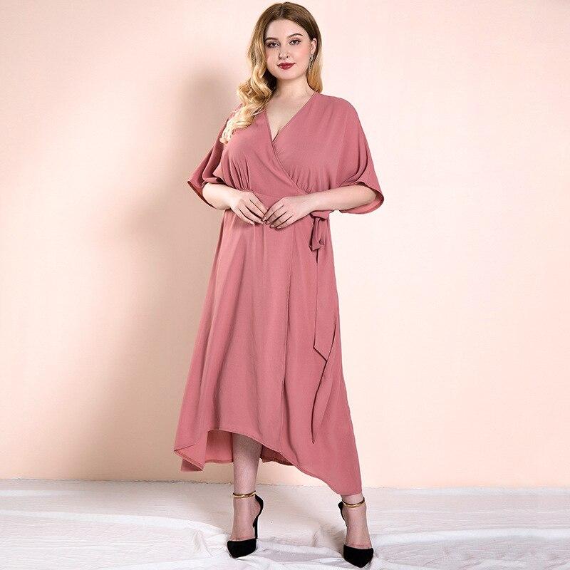 Повседневные женские платья Verano летнее платье больших размеров женские брюки-клеш, футболка с короткими рукавами трапециевидной формы Мак...
