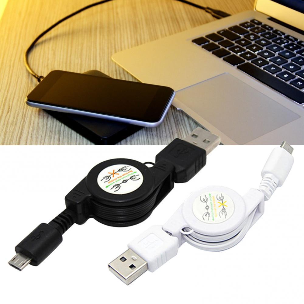 Cable retráctil Micro USB A USB 2,0 B para sincronizar datos, cargador...