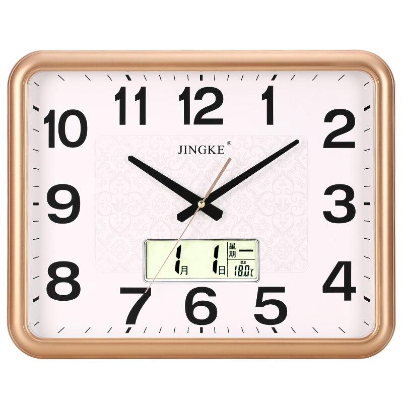 Reloj de pared Simple para sala de estar, reloj de pared cuadrado de cuarzo silencioso, cocina, arte minimalista, Orologio Cucina, decoración del jardín, hogar AA60ZB