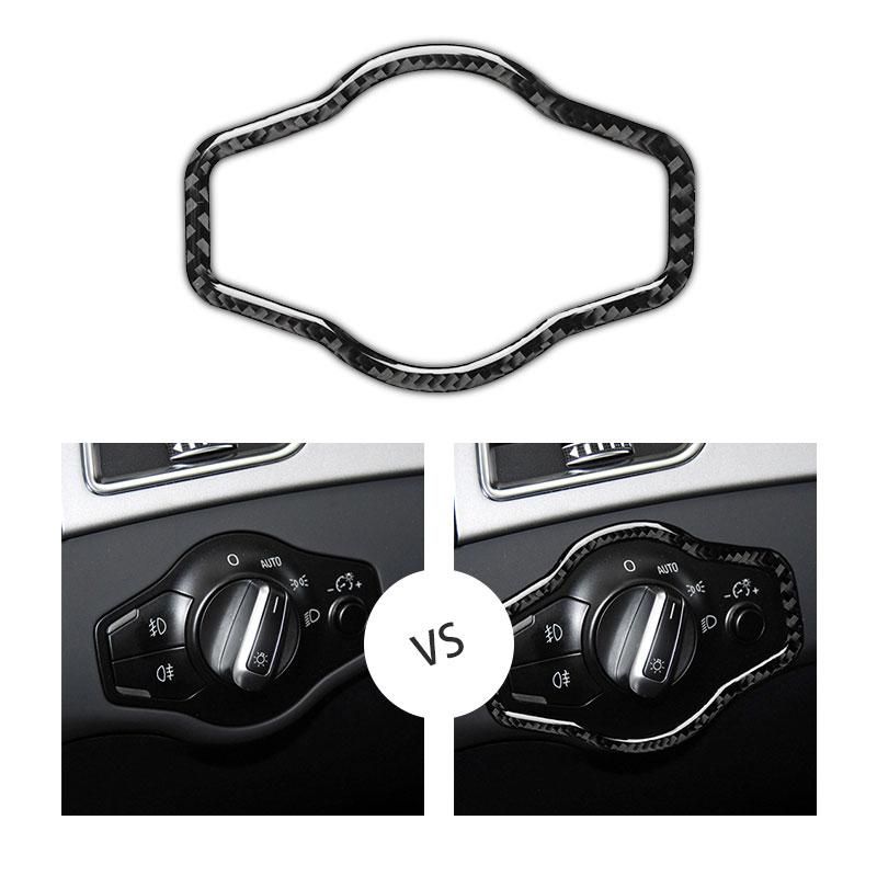 AliExpress - For Audi A4 B8 A5 Q5 2010 2011 2012 2013 2014 2015 2016 Carbon Fiber Headlight Switch Button Frame Cover Trim