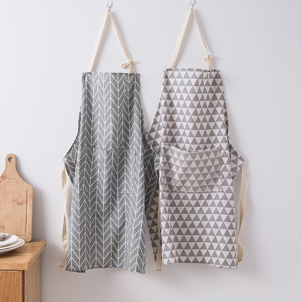 Saingace фартук модный для мужчин и женщин однотонный кухонный ресторанный комбинезон с карманом маслостойкий простой домашний Фартук #45