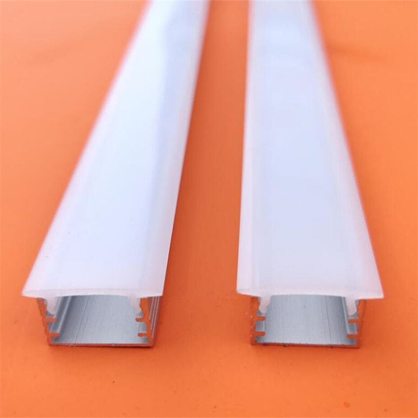 Free Shipping Recessed Linear Led Aluminium Housing Profile With Plastic End Caps And Mounting Clips 2M/Pcs