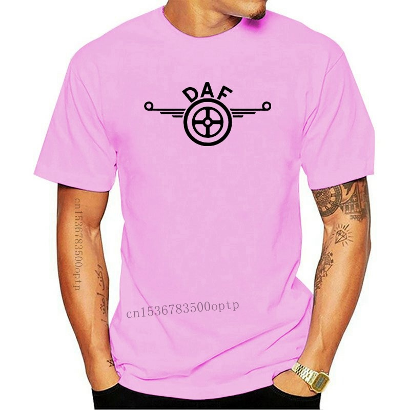 New Mens Daf Logo Grey T-shirtSummer Fashion Tee Shirt Tops Clothing Hgv Lf Tipper Trailer Box Truck