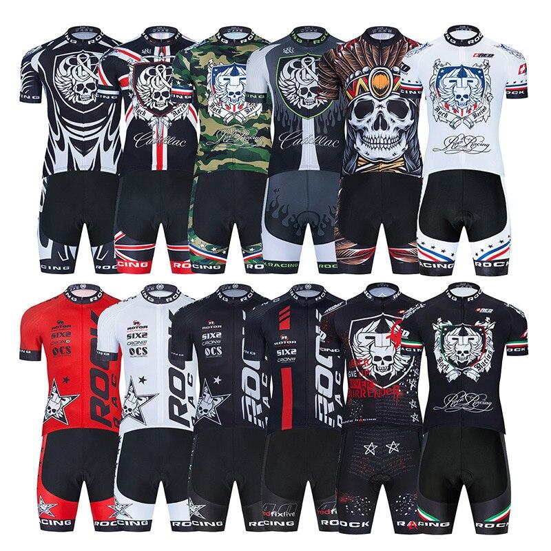 ROCK-Camiseta de Ciclismo de carreras para hombre, 9D, secado rápido, traje Culotte...