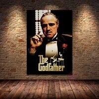 Affiche de peinture sur toile le Gangster  decoration de film classique  imprimes dart mural  image pour decoration de salon et de maison