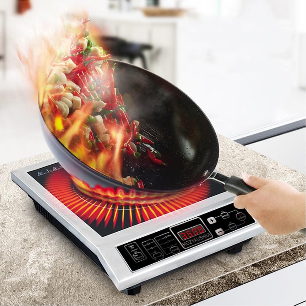 طباخ التعريفي عالية الطاقة 3500 واط التجارية الفولاذ المقاوم للصدأ التعريفي طباخ المنزلية تحريك جمهورية يوغوسلافيا الاتحادية