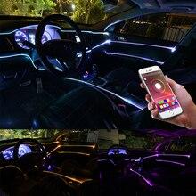 Niscarda RGB EL Neon Draht Streifen Licht Bluetooth APP Control Aktive LED Dekorative Dashboard Tür Atmosphäre Licht