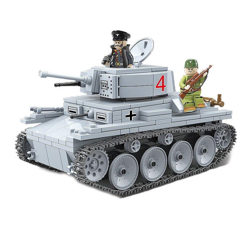 Bloques de construcción compatibles con aLiEiGiO Segunda Guerra Mundial tanque de batalla Principal Militar KV2 crawler ensamblaje movible rompecabezas Juguetes