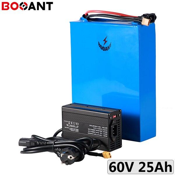 3,2 V 26650 LiFePo4 Paquete de batería 60V 25Ah 2500W batería de scooter eléctrico 20S 64V 1500W e-bike batería de litio con cargador 5A