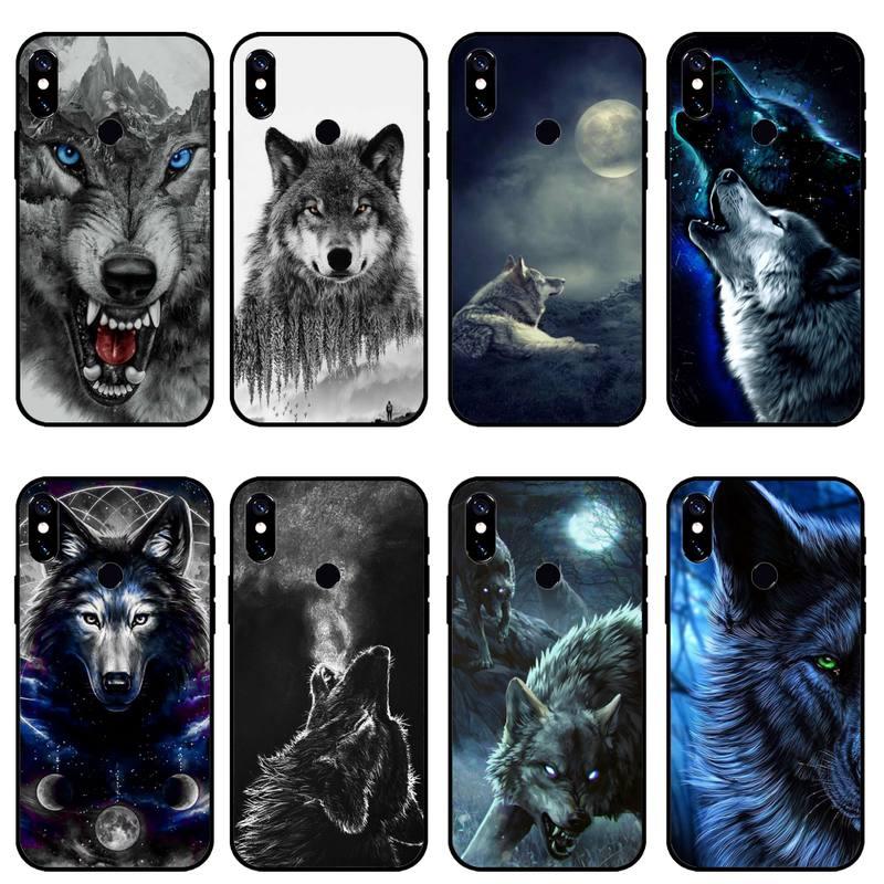 Animal salvaje lobo de la caja del teléfono para Xiaomi Redmi Nota...