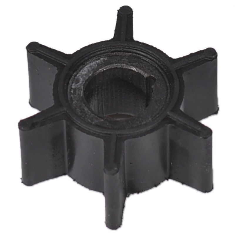 Water Pump Impeller Black Rubber For Tohatsu/Mercury/Sierra 2/2.5/3.5/4/5/6HP Outboard Motor 6 Blade