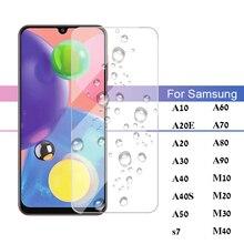 Protective Glass On The For Samsung Galaxy A10 A50 A20 A20E A70 A30 A40 A80 A90 M10 M20 M30 M40 Temp