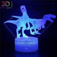 ATOPH Dino Collection LED veilleuse couleur changeante USB charge 3D herreffacaurus veilleuse enfants cadeaux de noël