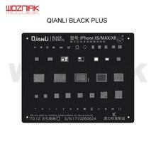 QIANLI noir PLUS pochoir de reballage universel pour IPHONE 6 6P 7 7P 8 8P X XS XR XSMAX A8 A9 A10 A11 A12 CPU NAND IC maille en acier