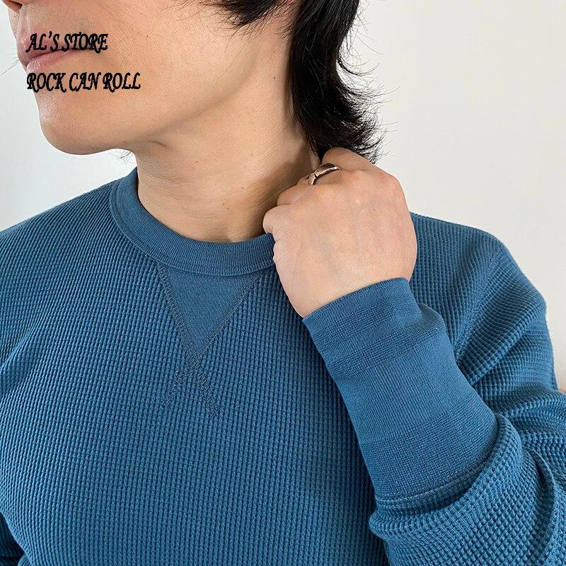 تي شيرت AL6118 Buy 1 Get 2 RockCanRoll Asia Size 300GSM 10.5oz غير رسمي برقبة على شكل حرف O من القطن عالي المرونة على شكل وافل 12 لون