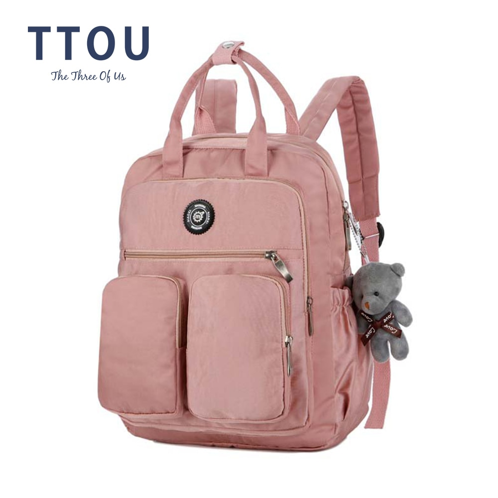 Mochila de lona de estilo coreano para mujer, mochila de viaje Simple a la moda para jóvenes, bolso escolar de ocio, bolso de hombro para Chica adolescente