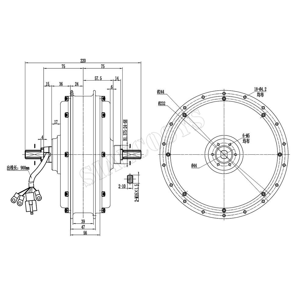 2020 new Hot sale QS Motor 3000W 205 50H V3 V3I electric spoke Hub Motor for electric bicycle 5T 72V 650RPM enlarge