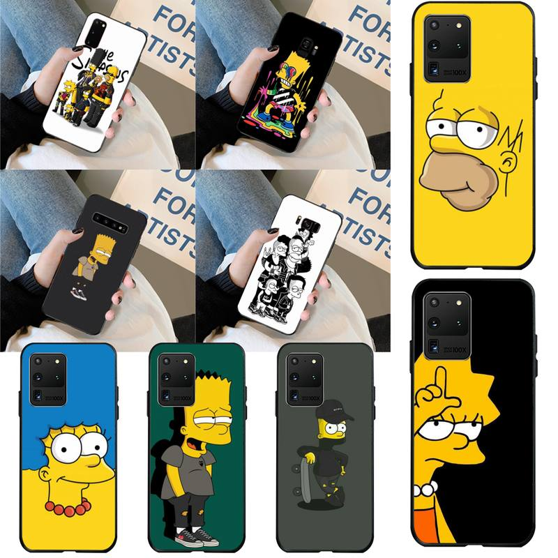 PENGHUWAN, funda de teléfono con diseño de J.Simpson para Samsung S20 plus, Ultra S6, S7 edge, S8, S9 plus, S10, 5G