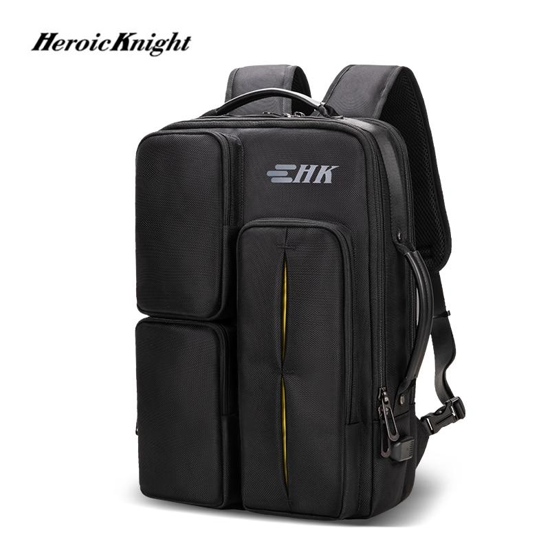 Bolsa para Laptop Bolsa de Alta Capacidade à Prova Polegada para o Homem de Negócios Cavaleiro Heróico Homens Mochila Multifuncional d' Água 15.6 Travelpack