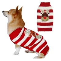 dog christmas sweater xmas pet clothes cute snowman reindeer holiday puppy cat costume new year gift for small medium large dogs