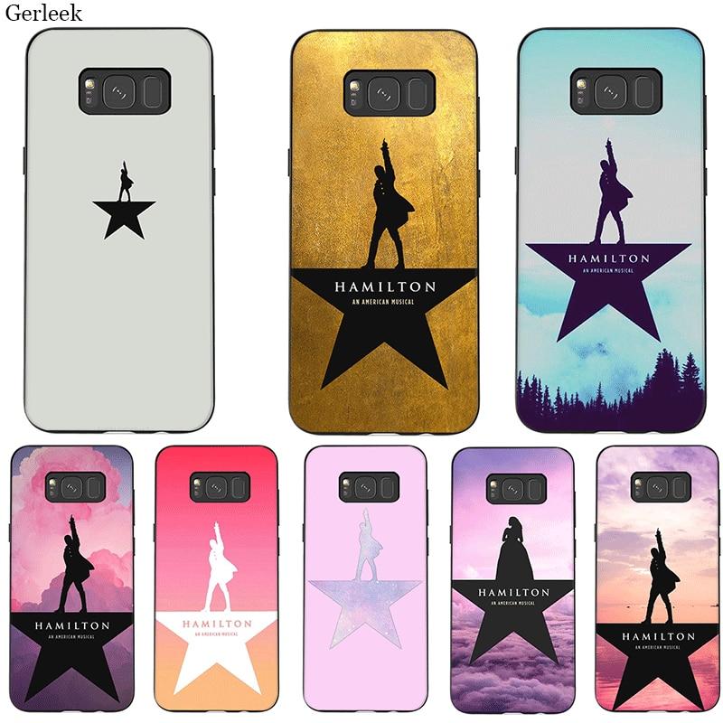 Caja del teléfono móvil para Samsung M10 M20 M30 M40 S6 S7 borde S9 S8 S10 S10E Plus Nota 8 9 10 lindo músico Hamilton