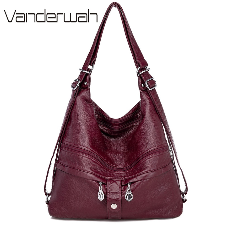High Quality Leather Backpack Women Travel Bagpack Female Large Capacity School Backpack Shoulder Bags for Women 2021 Sac A Dos