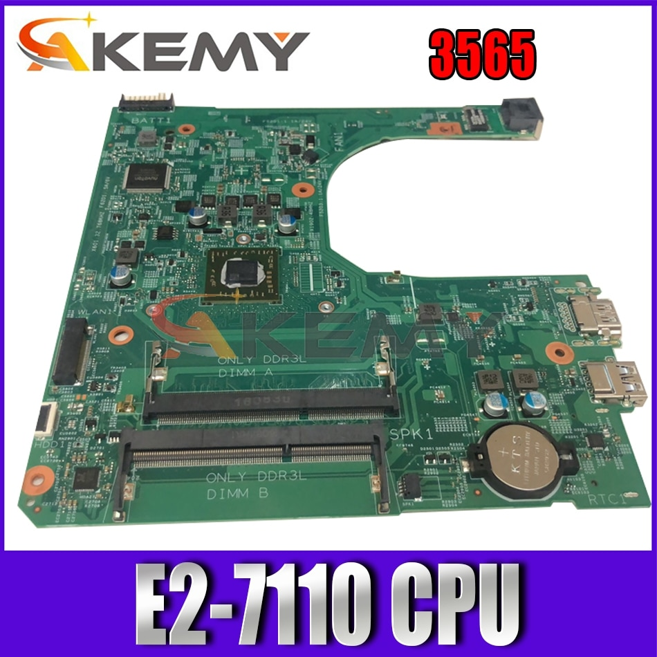 Akemy CN-0GG57Y GG57Y FOR DELL INSPIRON 15 3565 Laptop Motherboard 15276-1 Y25DC E2-7110 VGAport Mai