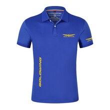 Honda Goldwing News Men's Polo Shirt Casual Men's Deer Embroidery Cotton Polo Men's Short Sleeve Hig