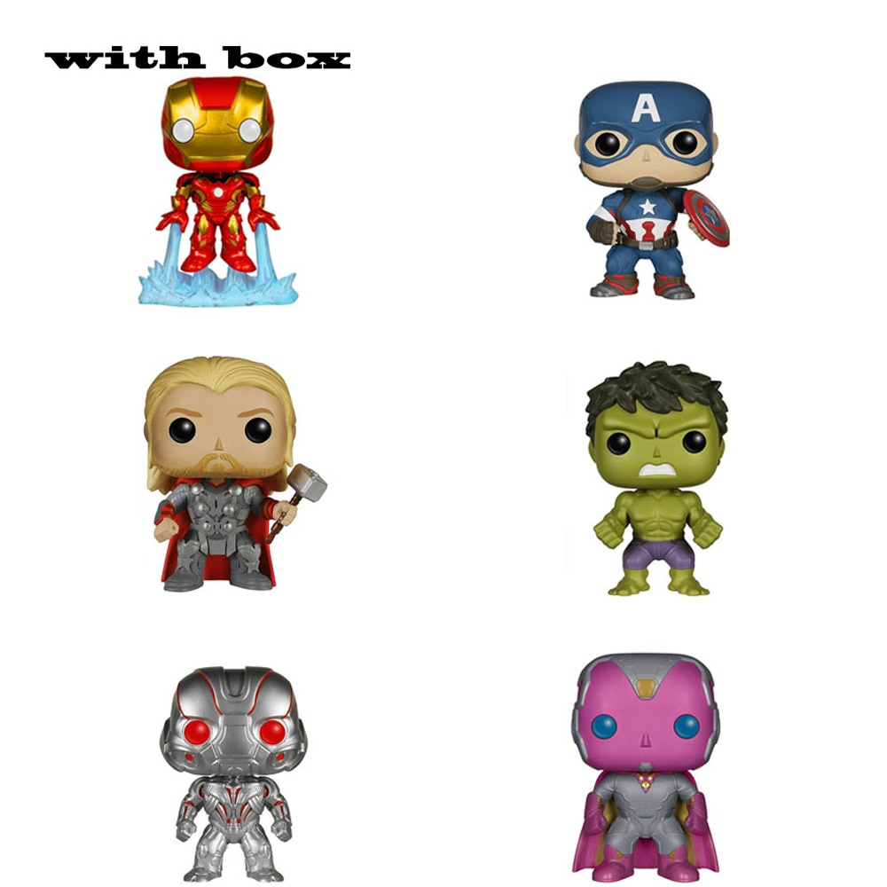 Vengadores figura de la era del hombre de hierro Ultron HULK Capitán América Viuda Negra juguete de modelos coleccionables para regalo con caja