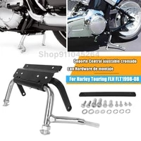 metal motorcycle foot bracket kick bracket durable for harley road king ultra classic electra glide road center stand 1998 2008