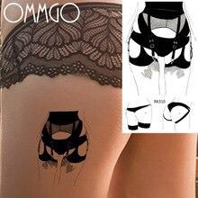 Sexy Honda trasero de una chica temporal tatuajes para hombres arte corporal para mujer cuello tatuaje pasta de papel IDY lavable Tatuaje falso Sitcker