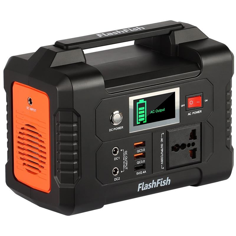 220V 200W Solar Generator Battery Charger FlashFish 40800mAh Portable Solar...