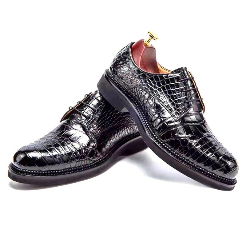 chue factory  men shoes  new  crocodile shoes male  lace-up  Super light  wear-resisting  non-slip  Brush men formal shoes