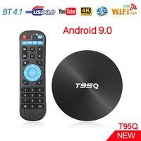 ТВ-приставка T95Q S905X2, Android 3,0, 4 ядра, 4 + 32/64 ГБ, USB 4,1, BT 9,0, Wi-Fi 2,4/5,8 ГГц