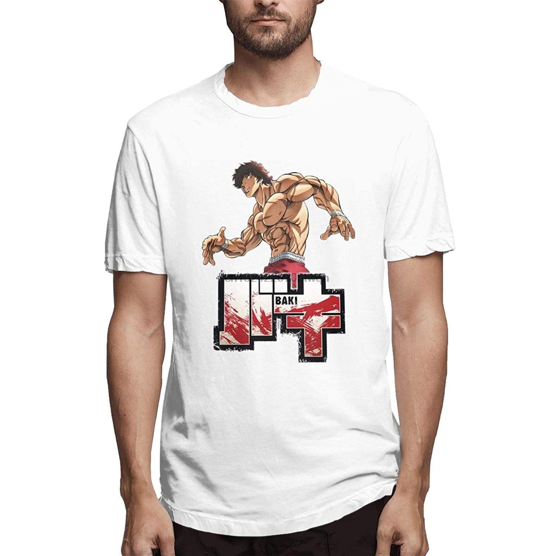 Crk008 t-shirts com grampler baki baki manga curta para o homem