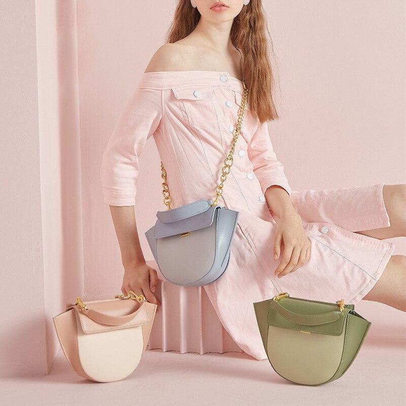 Moda feminina bolsa 100% bolsa de couro genuíno senhora casual tote feminino crossbody mensageiro bolsa de ombro