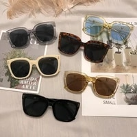 luxry retro sunglasses for women oversize square cat eye sun glasses vintage frame women sun glasses black oculos de sol uv400